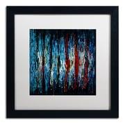 """Trademark Ricardo Tapia """"Miami"""" Canvas Art, White Matte With Black Frame, 16"""" x 16"""""""