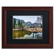 "Trademark David Ayash ""Yosemite...California-III"" Art, Black Matte With Wood Frame, 11"" x 14"""