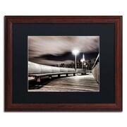 "Trademark David Ayash ""NYC"" Art, Black Matte With Wood Frame, 16"" x 20"""