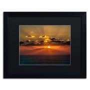 "Trademark David Ayash ""Mediterranean Sunset"" Art, Black Matte With Black Frame, 16"" x 20"""