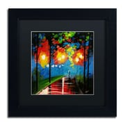 "Trademark Ricardo Tapia ""Night Reflection"" Canvas Art, Black Matte W/Black Frame, 11"" x 11"""