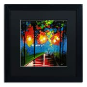 "Trademark Ricardo Tapia ""Night Reflection"" Canvas Art, Black Matte W/Black Frame, 16"" x 16"""