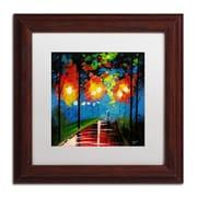 "Trademark Ricardo Tapia ""Night Reflection"" Canvas Art, White Matte W/Wood Frame, 11"" x 11"""