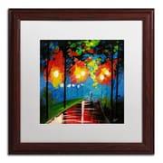 Trademark Ricardo Tapia Night Reflection Canvas Art, White Matte W/Wood Frame, 16 x 16