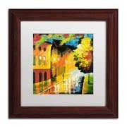 "Trademark Ricardo Tapia ""Street Light"" Canvas Art, White Matte With Wood Frame, 11"" x 11"""