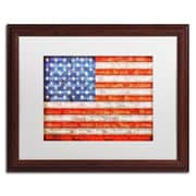 Trademark Michelle Calkins American States Art, White Matte With Wood Frame, 16 x 20