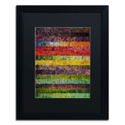 Trademark Michelle Calkins Brocade and Stripes 3 Art, Black Matte With Black Frame, 16 x 20
