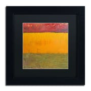 "Trademark Michelle Calkins ""Highway Series Grasses"" Art, Black Matte With Black Frame, 11"" x 11"""