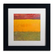"Trademark Michelle Calkins ""Highway Series Grasses"" Art, White Matte With Black Frame, 11"" x 11"""