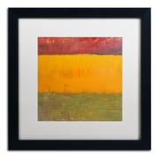 "Trademark Michelle Calkins ""Highway Series Grasses"" Art, White Matte With Black Frame, 16"" x 16"""