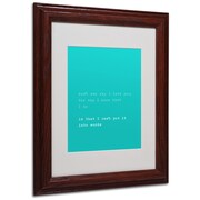 Trademark Megan Romo Why I Love You II Art, White Matte W/Wood Frame, 11 x 14