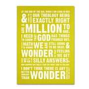 "Trademark Megan Romo ""Wonder as Worship VI "" Gallery-Wrapped Canvas Art, 18"" x 24"""