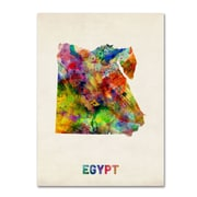 "Trademark Michael Tompsett ""Egypt Watercolor Map"" Gallery-Wrapped Canvas Art, 24"" x 32"""