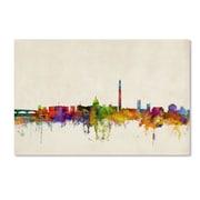 "Trademark Michael Tompsett ""Washington Watercolor Skyline"" Gallery-Wrapped Canvas Art, 30"" x 47"""