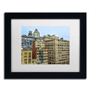 "Trademark CATeyes ""Brooklyn 2"" Art, White Matte W/Black Frame, 11"" x 14"""