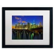"Trademark CATeyes ""City Lights 1"" Art, White Matte W/Black Frame, 16"" x 20"""