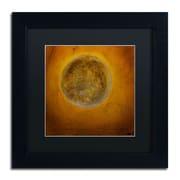 "Trademark Nicole Dietz ""Moon on Yellow"" Art, Black Matte With Black Frame, 11"" x 11"""