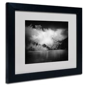 "Trademark Philippe Sainte-Laudy ""Black Beauty"" Art, White Matte With Black Frame, 11"" x 14"""