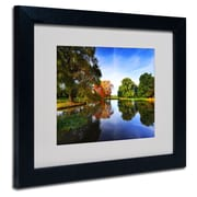"Trademark Philippe Sainte-Laudy ""Autumnal Beauty"" Art, White Matte With Black Frame, 11"" x 14"""