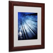 "Trademark Philippe Sainte-Laudy ""Blue Forest"" Art, White Matte With Wood Frame, 11"" x 14"""