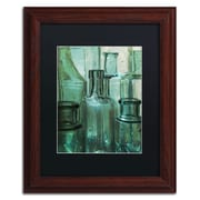 "Trademark Patty Tuggle ""Antique Bottles"" Art, Black Matte With Wood Frame, 11"" x 14"""