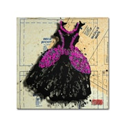 "Trademark Roderick Stevens ""Black n Purple Swirls"" Gallery-Wrapped Canvas Art, 24"" x 24"""