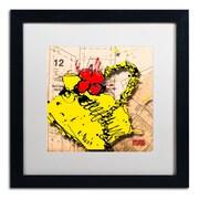 """Trademark Roderick Stevens """"Flower Purse Red on Yellow"""" Art, White Matte W/Black Frame, 16"""" x 16"""""""