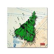 "Trademark Roderick Stevens ""Shoulder Dress Green n Black"" Gallery-Wrapped Canvas Art, 35"" x 35"""