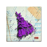 "Trademark Roderick Stevens ""Shoulder Dress Purple n Black"" Gallery-Wrapped Canvas Art, 18"" x 18"""
