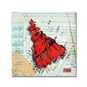 "Trademark Roderick Stevens ""Shoulder Dress Red n Black"" Gallery-Wrapped Canvas Art, 14"" x 14"""