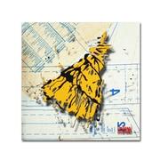 "Trademark Roderick Stevens ""Shoulder Dress Yellow n Black"" Gallery-Wrapped Canvas Art, 14"" x 14"""