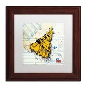 "Trademark Roderick Stevens ""Shoulder Dress Yellow n Black"" Art, White Matte W/Wood Frame, 11"" x 11"""
