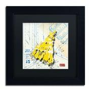 """Trademark Roderick Stevens """"Shoulder Dress Yellow n White"""" Art, Black Matte W/Black Frame, 11"""" x 11"""""""