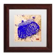 """Trademark Roderick Stevens """"Snap Purse Blue"""" Art, White Matte With Wood Frame, 11"""" x 11"""""""