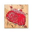 """Trademark Roderick Stevens """"Snap Purse Red"""" Gallery-Wrapped Canvas Art, 18"""" x 18"""""""