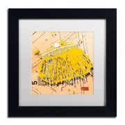 "Trademark Roderick Stevens ""Snap Purse Yellow"" Art, White Matte With Black Frame, 11"" x 11"""