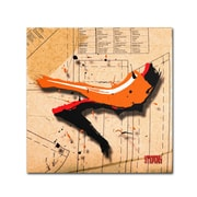 Trademark Roderick Stevens Suede Heel Orange Gallery-Wrapped Canvas Art, 35 x 35