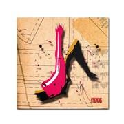 Trademark Roderick Stevens Suede Heel Pink Gallery-Wrapped Canvas Art, 24 x 24