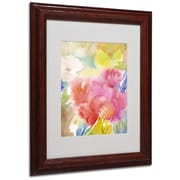 "Trademark Sheila Golden ""Sonoma Garden"" Art, White Matte With Wood Frame, 11"" x 14"""