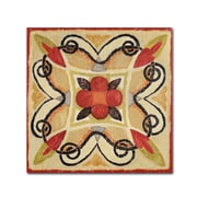"""Trademark Daphne Brissonnet """"Bohemian Rooster Tile Square I"""" Gallery-Wrapped Canvas Art, 18"""" x 18"""""""