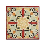 "Trademark Daphne Brissonnet ""Bohemian Rooster Tile Square II"" Gallery-Wrapped Canvas Art, 24"" x 24"""