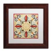 """Trademark Daphne Brissonnet """"Bohemian...Square II"""" Art, White Matte W/Wood Frame, 11"""" x 11"""""""