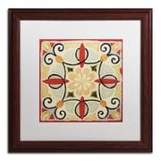 """Trademark Daphne Brissonnet """"Bohemian...Square II"""" Art, White Matte W/Wood Frame, 16"""" x 16"""""""