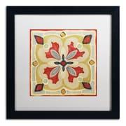 "Trademark Daphne Brissonnet ""Bohemian...Square III"" Art, White Matte W/Black Frame, 16"" x 16"""