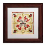 "Trademark Daphne Brissonnet ""Bohemian...Square III"" Art, White Matte W/Wood Frame, 11"" x 11"""