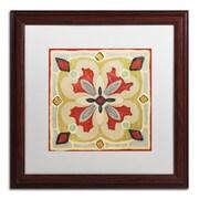 "Trademark Daphne Brissonnet ""Bohemian...Square III"" Art, White Matte W/Wood Frame, 16"" x 16"""