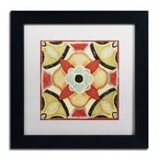 """Trademark Daphne Brissonnet """"Bohemian...Square IV"""" Art, White Matte W/Black Frame, 11"""" x 11"""""""