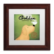 "Trademark Ryan Fowler ""Golden Coffee Co"" Art, White Matte With Wood Frame, 11"" x 11"""