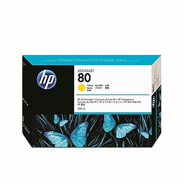 HP 80 350-ml Yellow Ink Cartridge (C4848A)