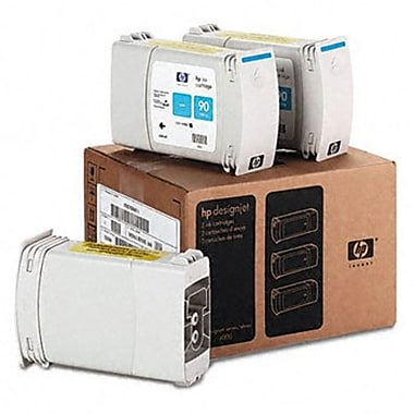 HP 90 400-ml Cyan Ink Cartridges, 3-Pack (C5083A)